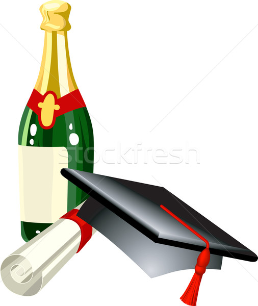 graduation illustration Stock photo © Krisdog