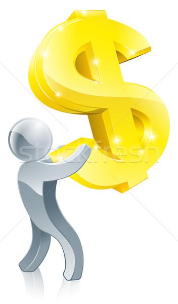 Person holding dollar sign concept Stock photo © Krisdog