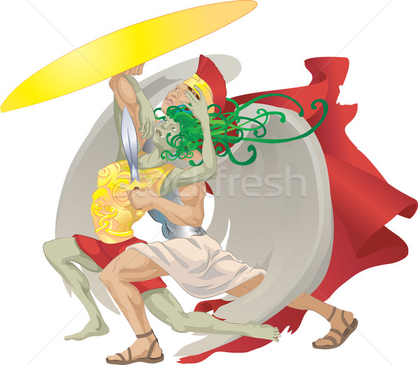 perseus and medusa illustration Stock photo © Krisdog
