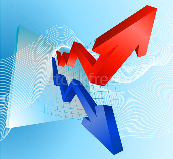 Illustration of profit and loss graph with arrows Stock photo © Krisdog