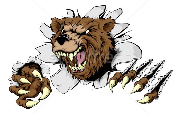 Bear ripping through background Stock photo © Krisdog