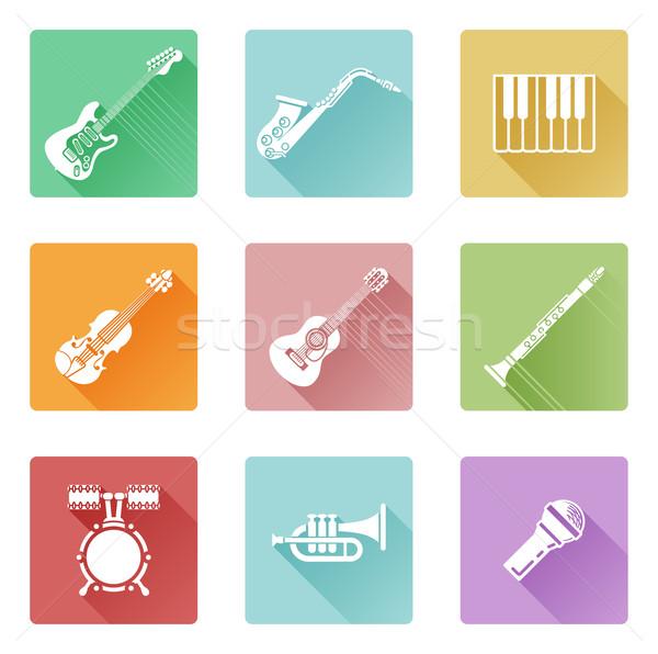 Music icon set Stock photo © Krisdog