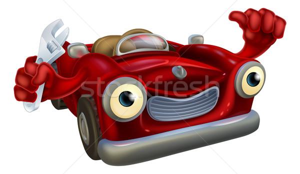 Car mechanic with wrench Stock photo © Krisdog