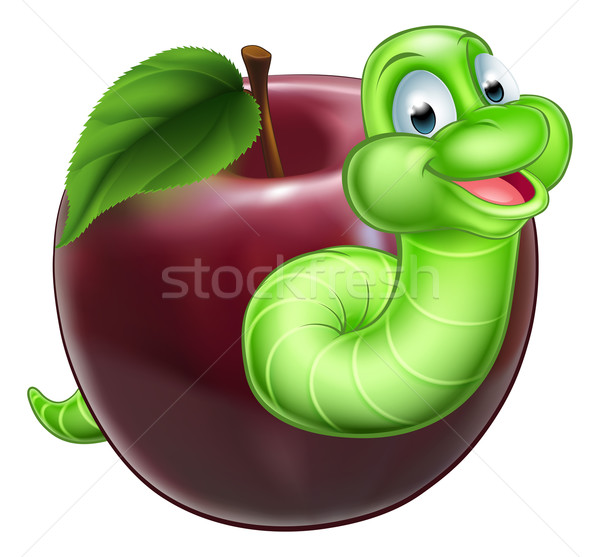 Worm and Apple Stock photo © Krisdog