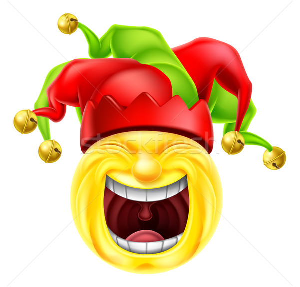 Laughing Jester Emoticon Emoji Stock photo © Krisdog