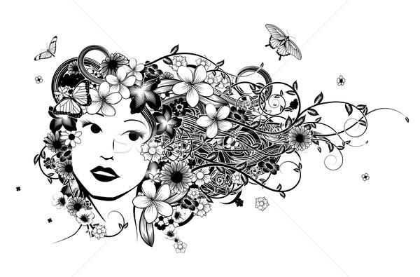 Stock photo: Hair Woman Fashion Illustration