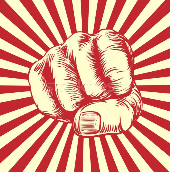 商业照片: 拳头 ·手· 复古 · 海报 · 背景 · 艺术