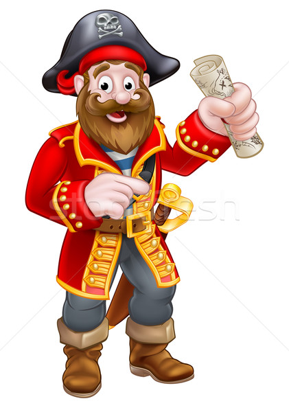 Cartoon Pirate Captain Stock photo © Krisdog