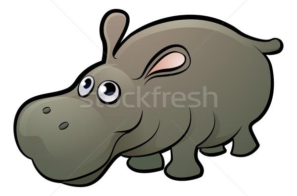 Hipopótamo hipopótamo livro criança Foto stock © Krisdog