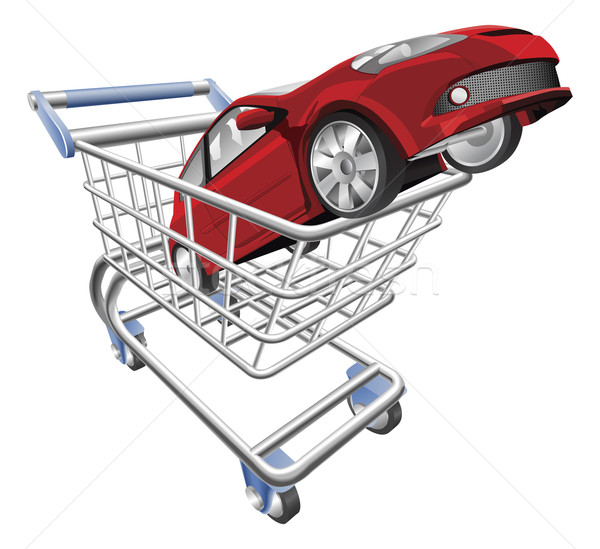 Car shopping cart concept Stock photo © Krisdog