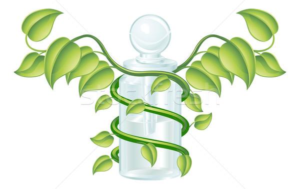Stockfoto: Natuurlijke · fles · ander · remedie · medische · ontwerp
