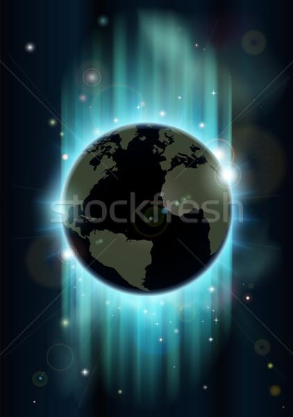 Soyut dünya dünya uzay fütüristik toprak Stok fotoğraf © Krisdog
