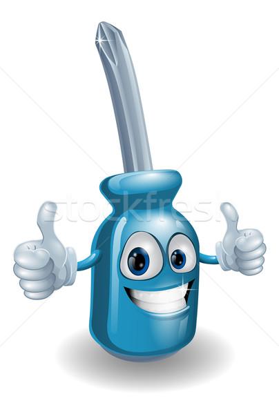 Cartoon screwdriver man Stock photo © Krisdog