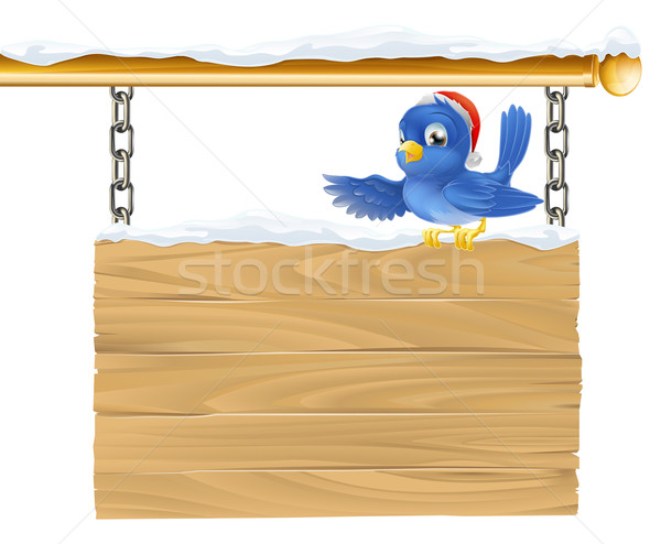 Bluebird Christmas sign Stock photo © Krisdog