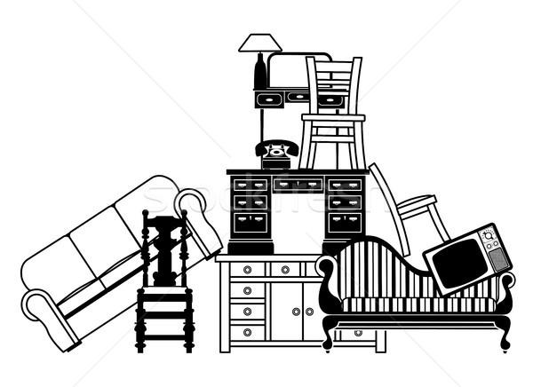 家具 実例 中古 住宅保険 家 ストックフォト © Krisdog