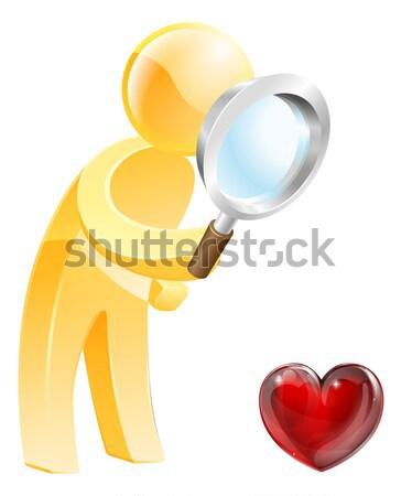 Magnifying glass gold person Stock photo © Krisdog