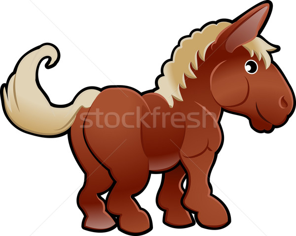 Cute Horse Farm Animal Vector Illustration Stock photo © Krisdog
