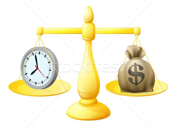 Time money balance scales Stock photo © Krisdog