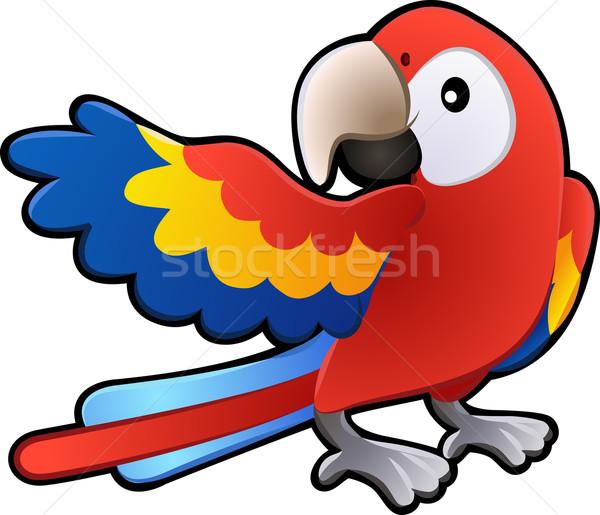 Cute Friendly Macaw Parrot Illustration Stock photo © Krisdog
