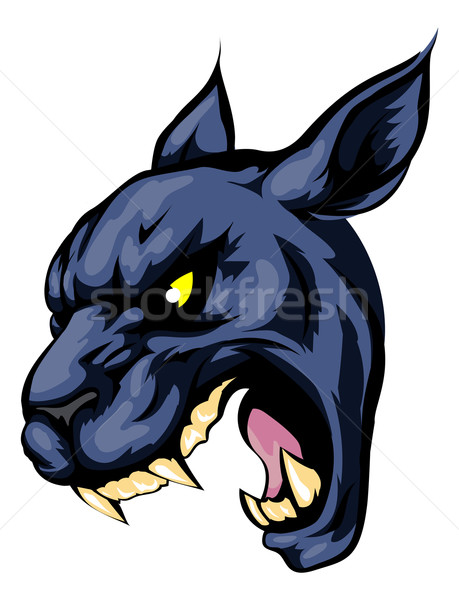 Panther mascot character Stock photo © Krisdog