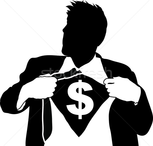 super businessman illustartion Stock photo © Krisdog