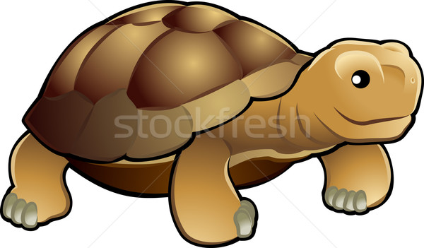 Cute tortoise vector illustration Stock photo © Krisdog