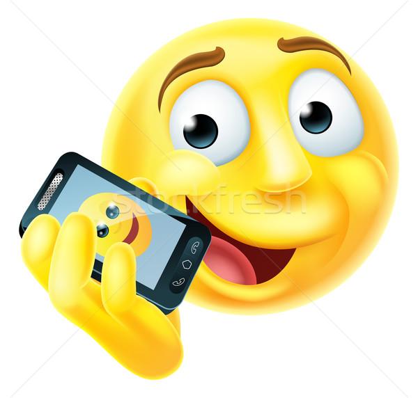 Mobile Phone Emoji Emoticon Stock photo © Krisdog
