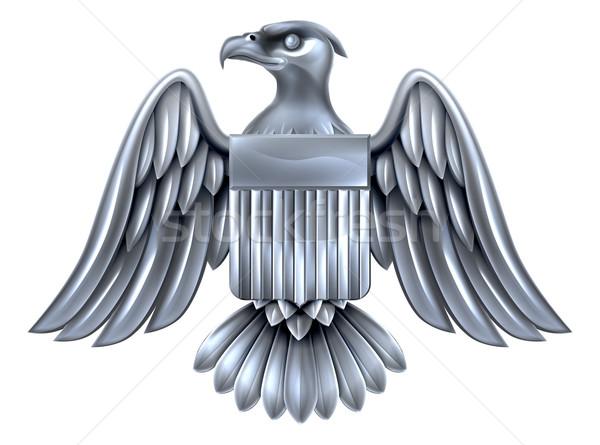 Silver American Eagle Shield  Stock photo © Krisdog