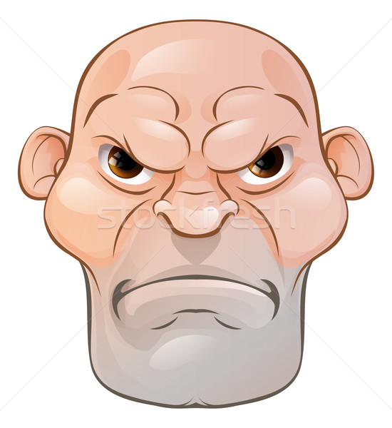 Mean Angry Cartoon Man Stock photo © Krisdog