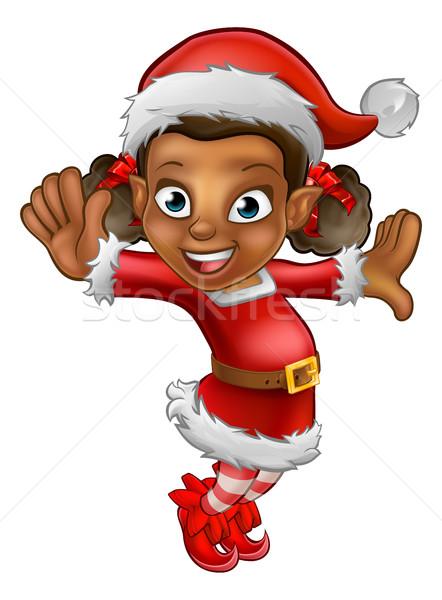 Cute Cartoon Christmas Santa Helper Elf Stock photo © Krisdog
