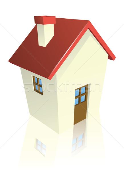 Stylised cottage or house Stock photo © Krisdog