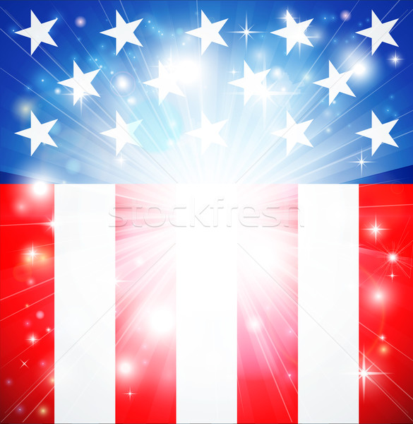 American flag patriotic background Stock photo © Krisdog