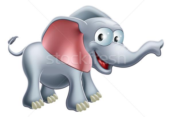 Cute Cartoon Elephant Stock photo © Krisdog