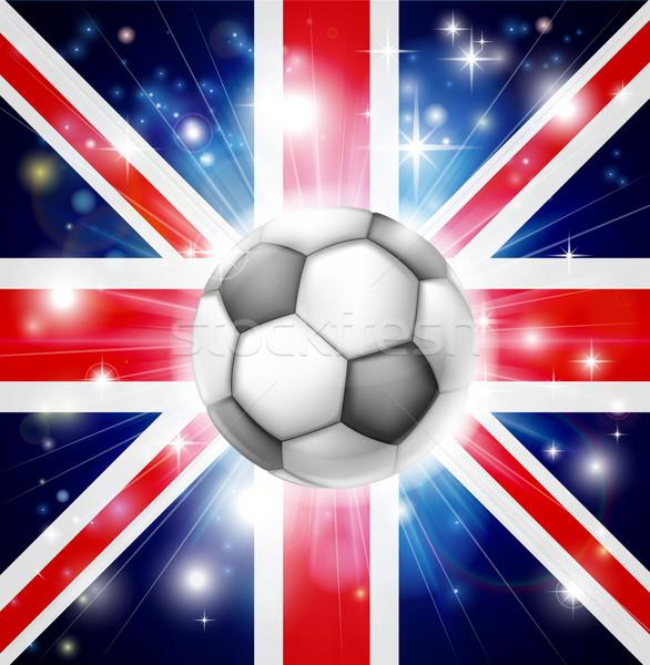 UK soccer flag Stock photo © Krisdog