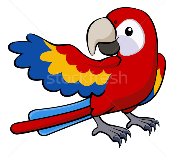 Red parrot illustration Stock photo © Krisdog