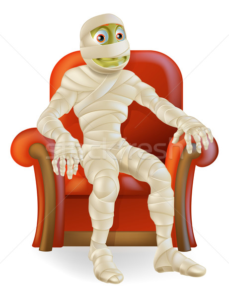 Halloween Mummy in Chair Stock photo © Krisdog