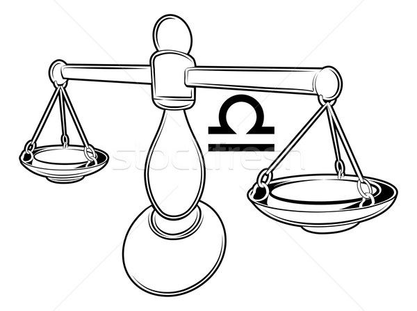 Zodíaco horóscopo astrologia assinar ilustração balança Foto stock © Krisdog