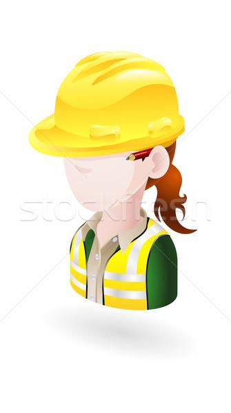 Kobiet inżynier ilustracja kobieta Zdjęcia stock © Krisdog