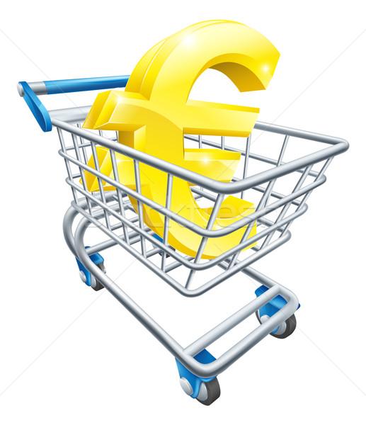 Euro currency shopping cart Stock photo © Krisdog