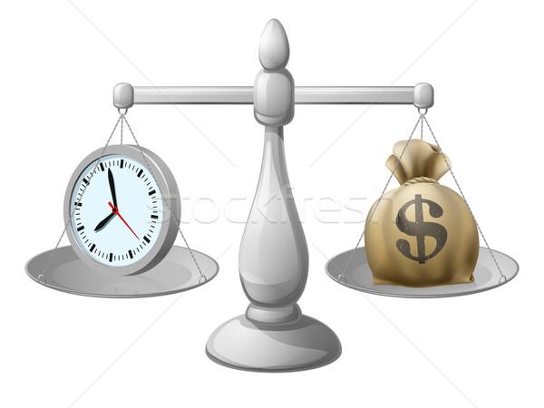 Az idő pénz üzlet óra egy oldal pénz Stock fotó © Krisdog