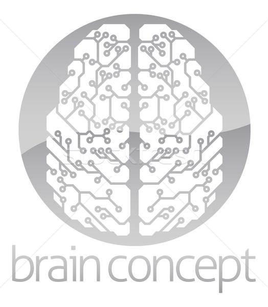 Abstract circle electronic brain Stock photo © Krisdog
