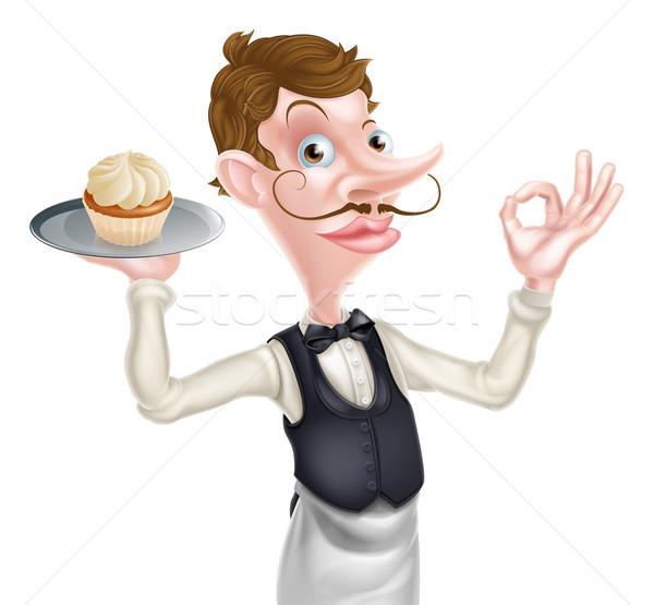 Cake Waiter Perfect Sign Stock photo © Krisdog