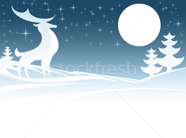 Christmas Deer Illustration Stock photo © Krisdog