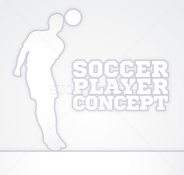 Concept Silhouette Soccer Player  Stock photo © Krisdog
