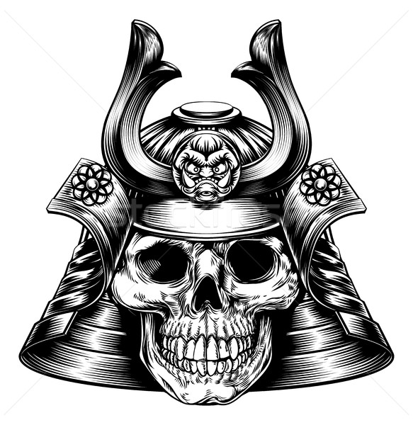 Samurai Skull  Stock photo © Krisdog