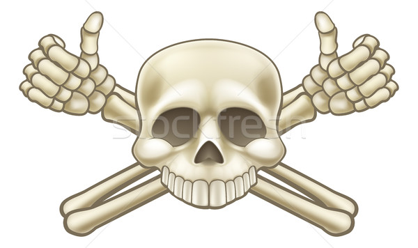 Skull and Crossbones Pirate Sign Stock photo © Krisdog