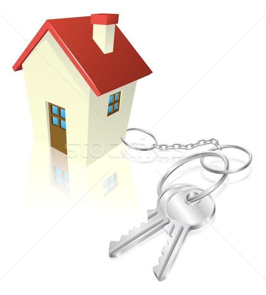Casa adjunto claves comprar hipoteca Foto stock © Krisdog