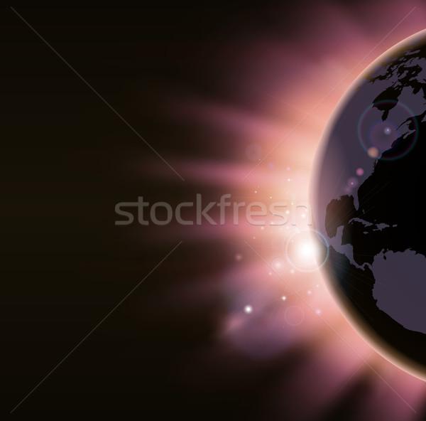 Восход свет Мир мира цветами Сток-фото © Krisdog