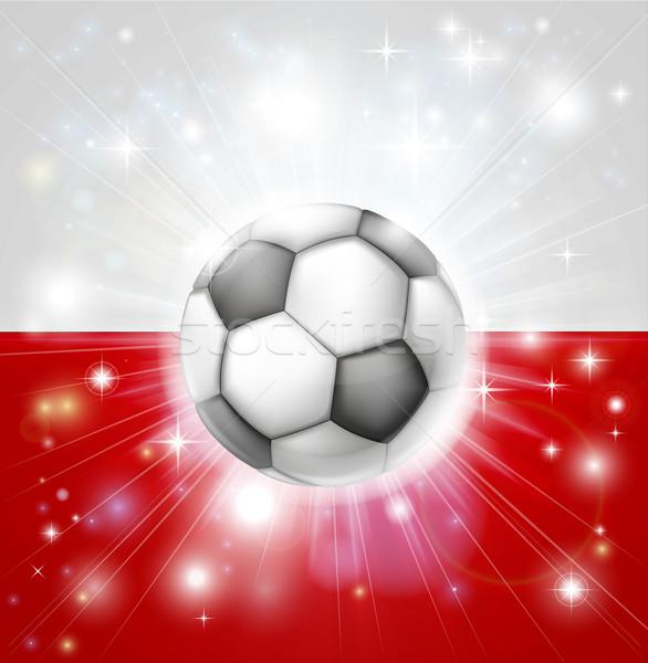 Poland soccer flag Stock photo © Krisdog