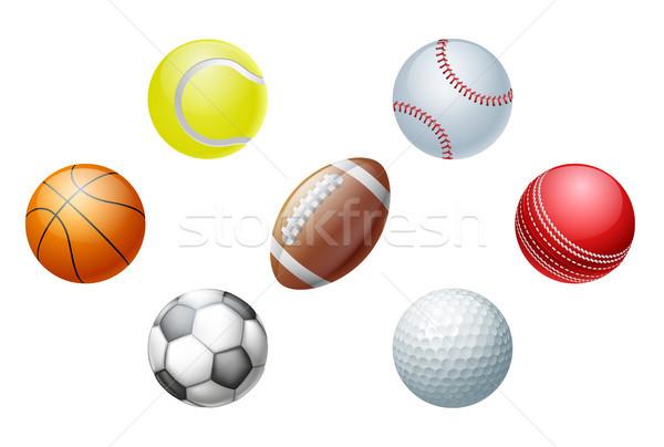 Sports balls Stock photo © Krisdog